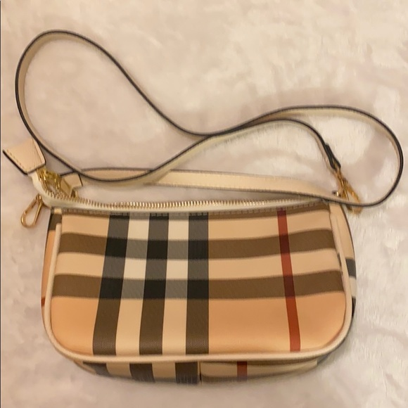 Striped handbag crossbody